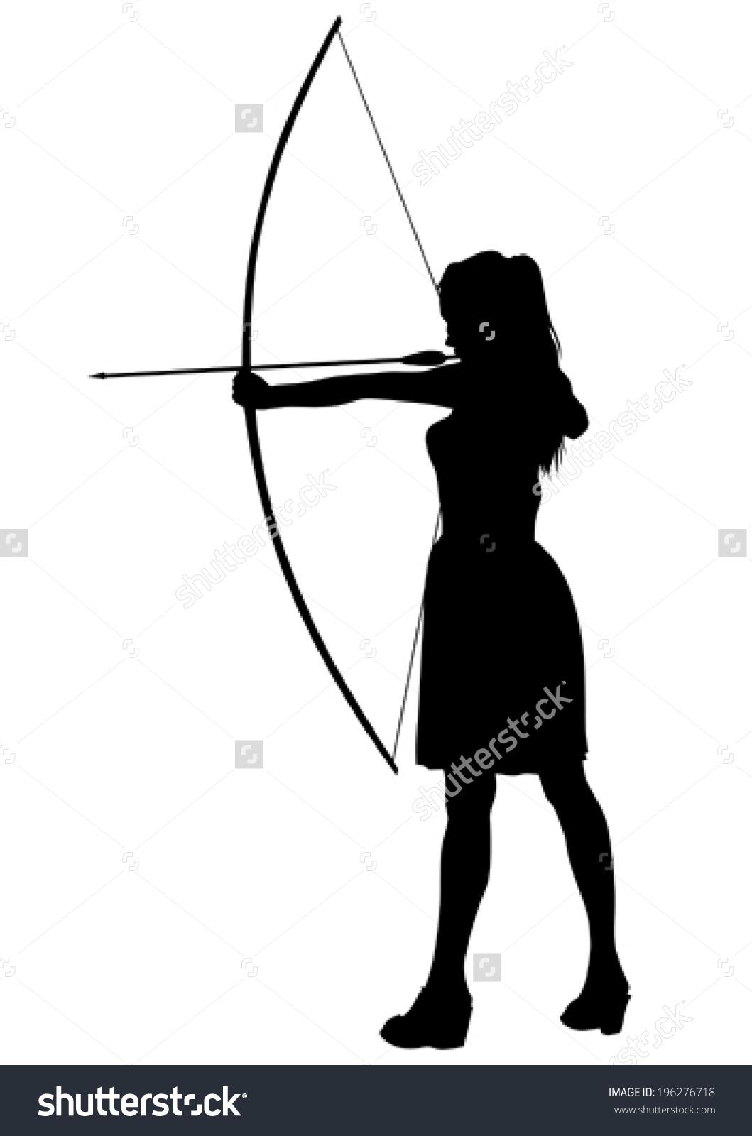 1059x1600 Archery Couple Silhouette Clipart