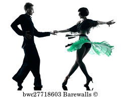 Silhouette Couple Dancing