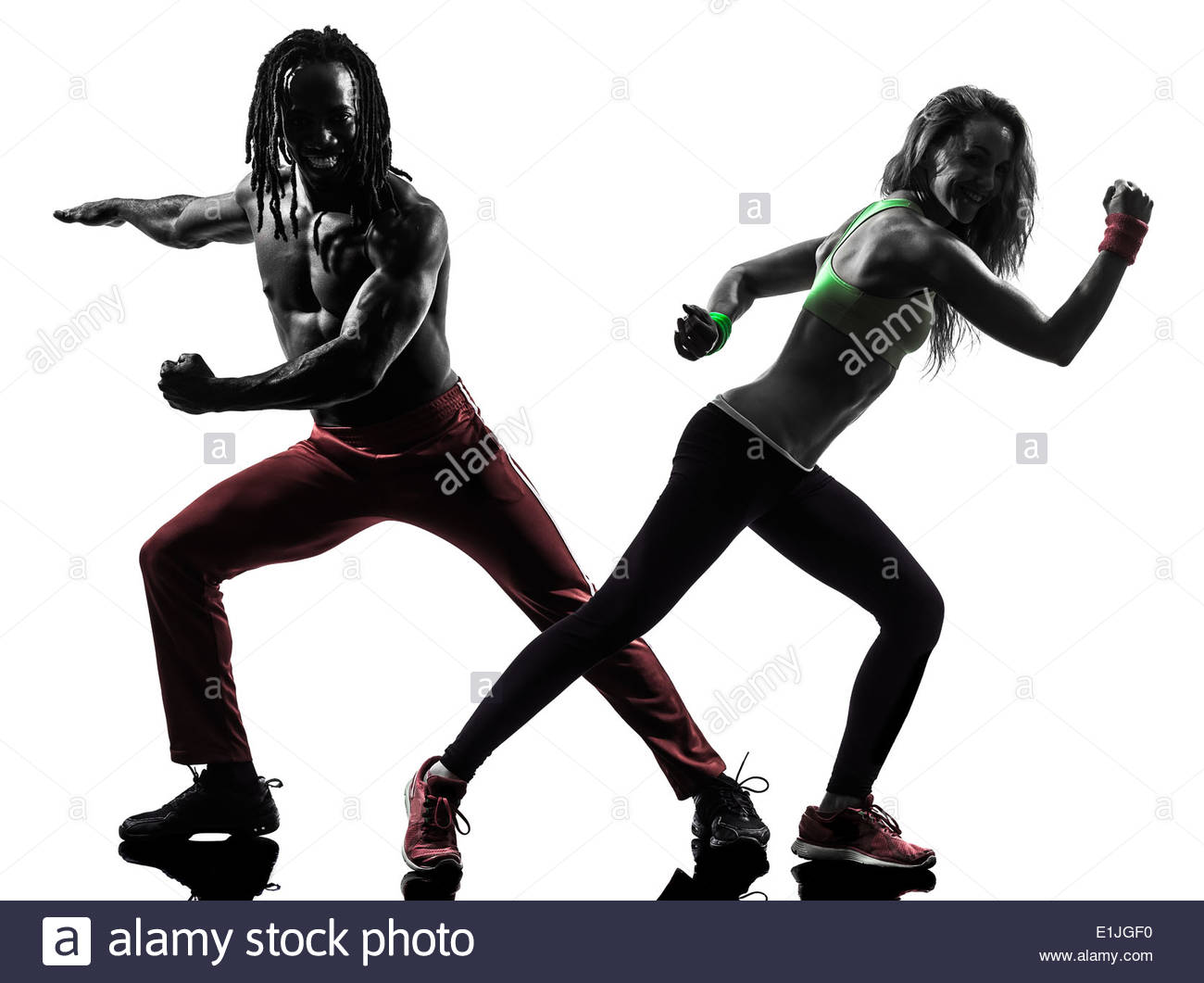 1300x1061 Couple Man And Woman Exercising Fitness Zumba Dancing