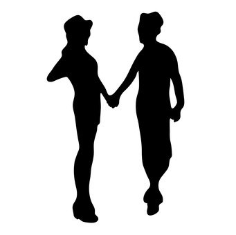 341x340 Free Silhouettes 1, 2 People