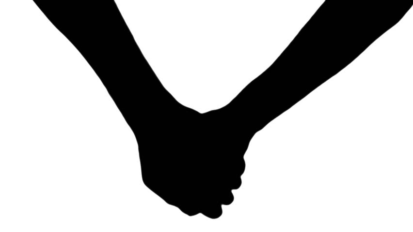 852x480 Holding Hands Silhouette