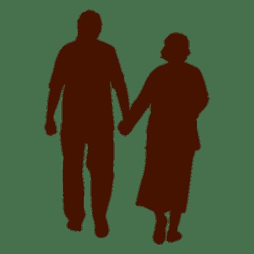 512x512 Senior Couple Silhouette