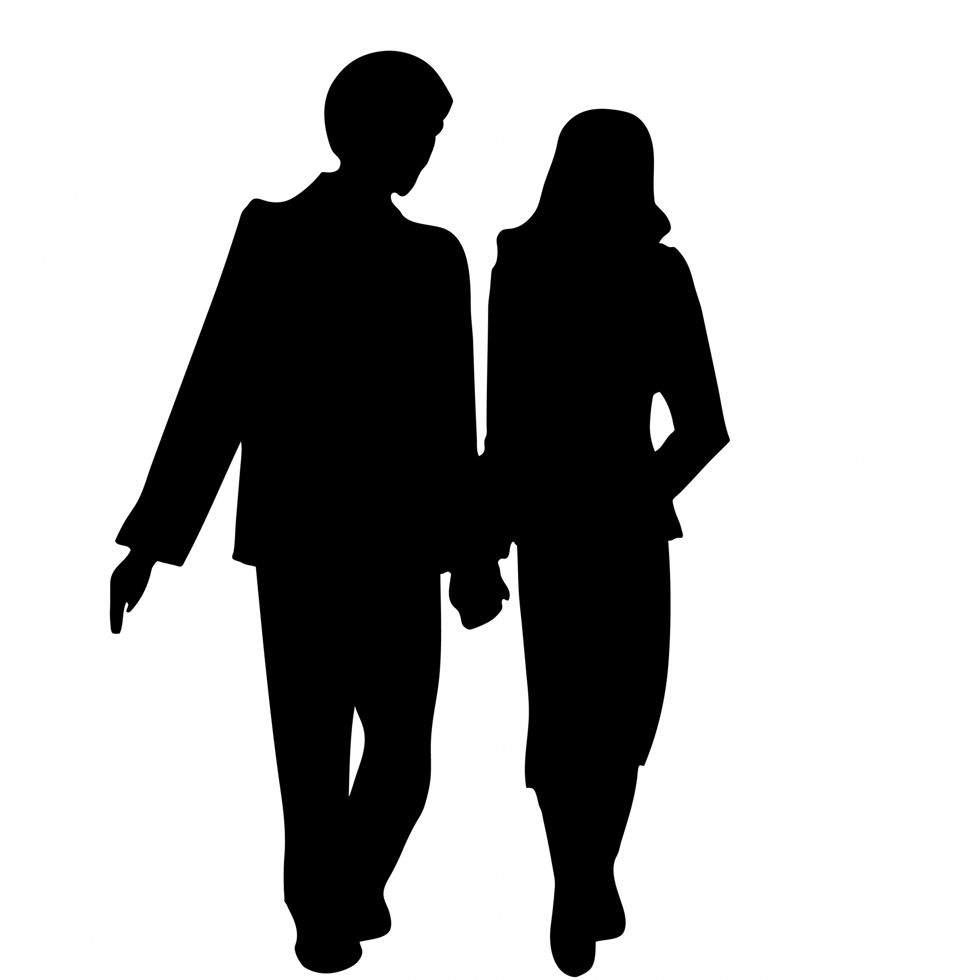 1920x1920 Couple Holding Hands Silhouette Free Stock Photo