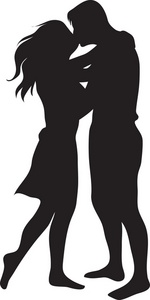 150x300 Couple Silhouette Kissing