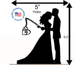 340x270 Custom Wedding Cake Topper Personalized Silhouette