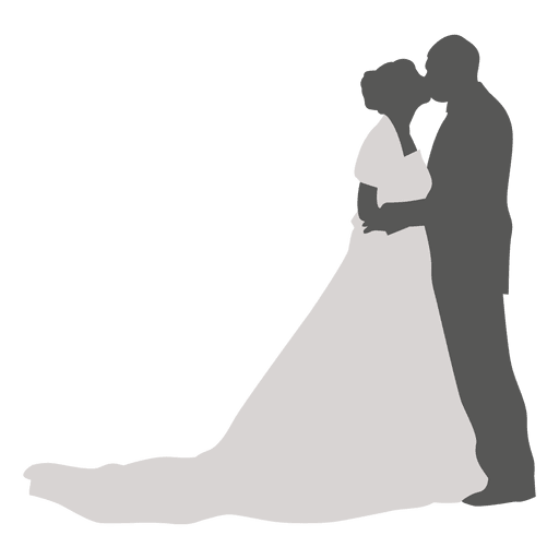 512x512 Kissing Wedding Couple Silhouette