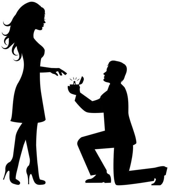 564x624 Romantic Couple Silhouettes Clip Art Image Mnuaidades
