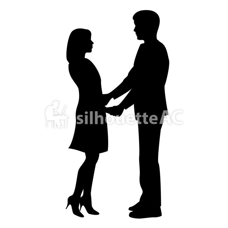 750x750 Free Silhouette Vector 2 People, Couple, Love