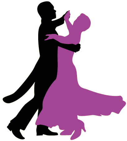 Silhouette Couples Dancing