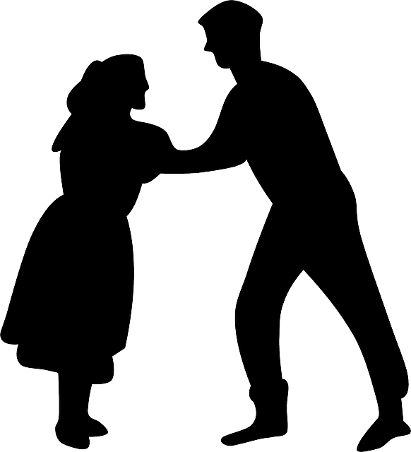 582x640 Dance, Music, People, Silhouette, Couple, Dancer