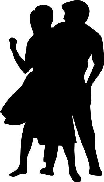 342x600 Dancing Couple Fifties Clip Art Free Vector In Open Office Drawing