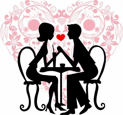 395x368 Couple Silhouette Free Vector Download (5,817 Free Vector)