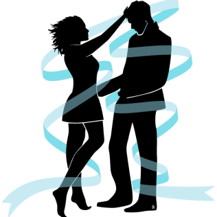316x316 Newly Married Couple Silhouettes Free Vector 123freevectors