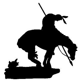 Silhouette Cowboy On Horse
