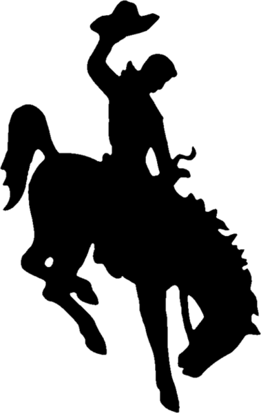 379x600 Wyoming Logo Wyoming State Logo Bucking Bronco Tattoos