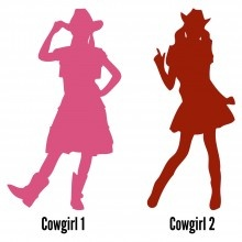 Silhouette Cowgirl