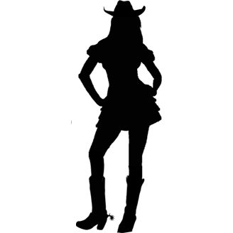 Silhouette Cowgirl At Getdrawings Free Download