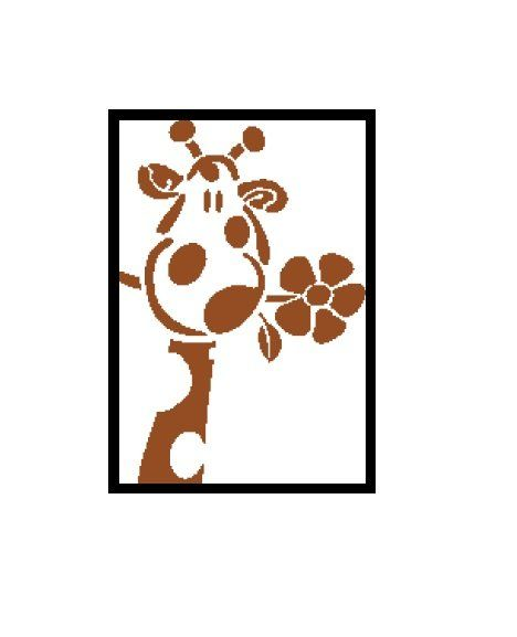 468x577 Giraffe silhouette cross stitch pattern Cross Stitch Pattern