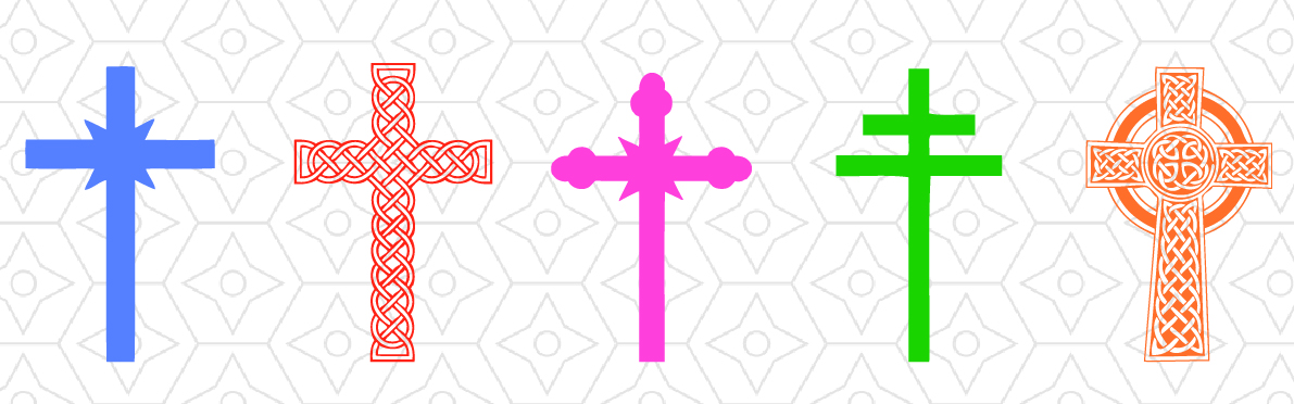 1191x372 Religious Crosses Decals, Dxf, Svg And Design Bundles
