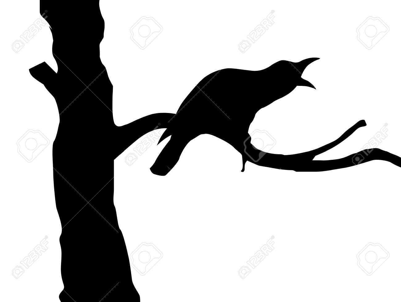 1300x981 Crow Clipart Branch Silhouette