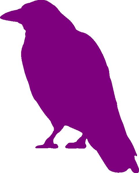 480x594 Violet Crow Silhouette Clip Art