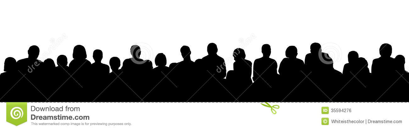 1300x415 Audience Silhouette Clipart