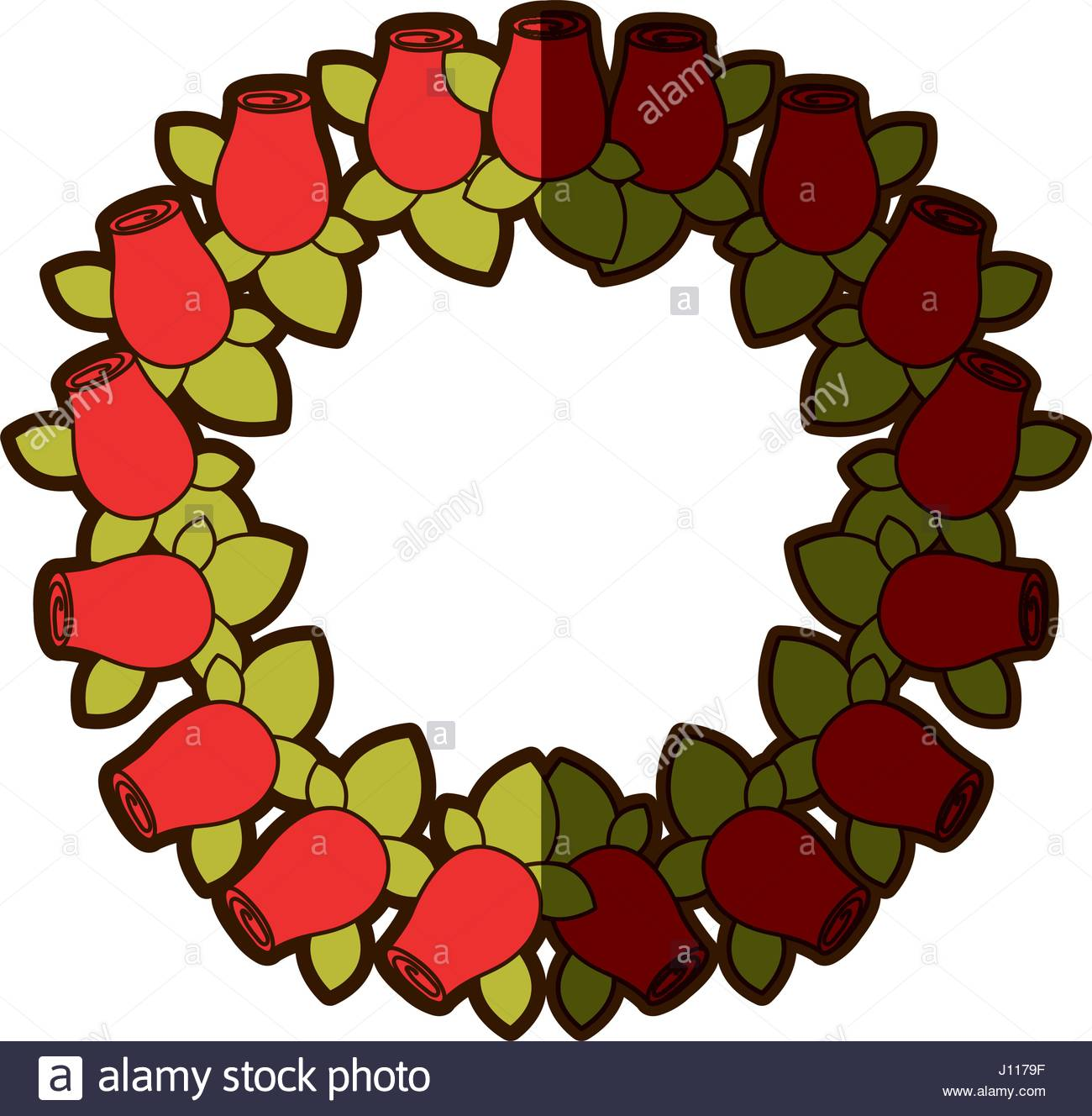 1300x1328 Colorful Shading Silhouette Crown Drawing Red Rosebuds With Leaves