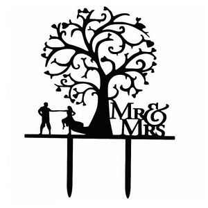 300x300 Sweet Wedding Cake Topper Mr Amp Mrs Dancing Couple Under Love Tree
