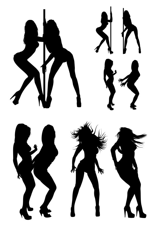 Silhouette Dancing Girl