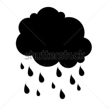 380x380 Rain Silhouettes Clip Art