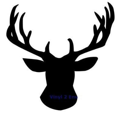 398x385 Deer Head Silhouette Svg File From Misstatestreasures On Etsy Studio