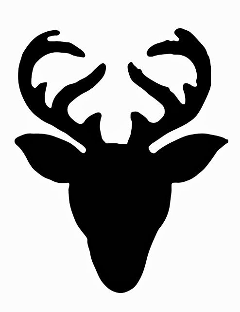 494x640 Deer Head Silhouette Stencil For Diy Sweater Christmas