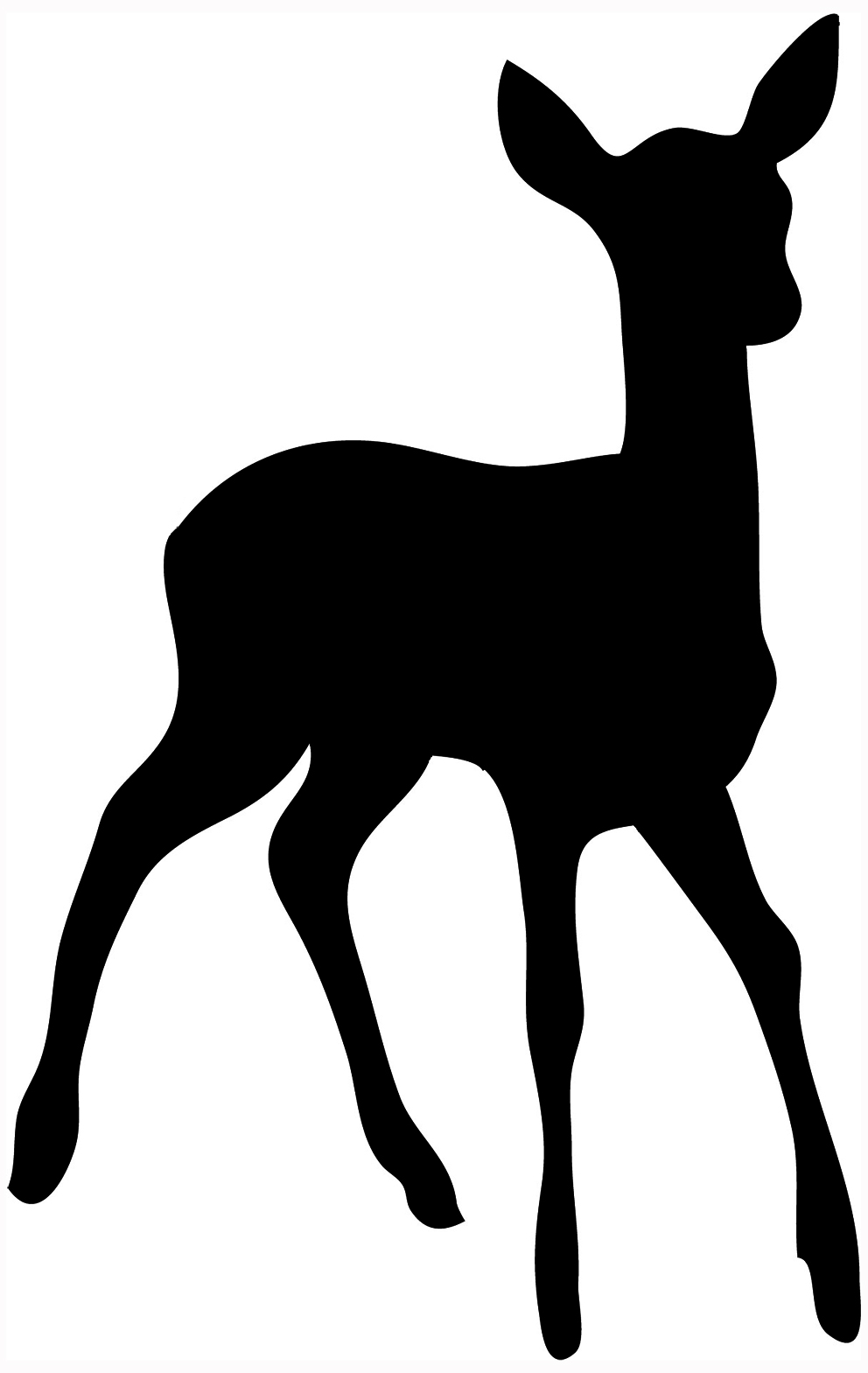 992x1569 Female Deer Head Clipart