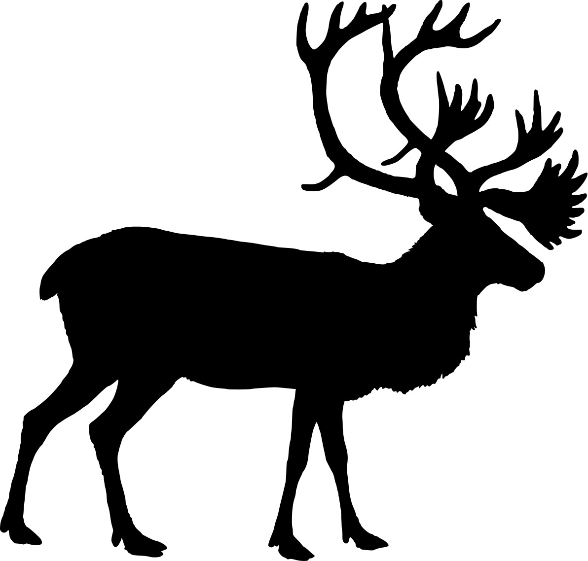 1192x1138 Best Photos Of Reindeer Head Silhouette Deer Within Png Fiscalreform