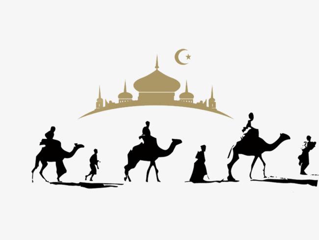 650x489 Desert Camel Silhouette Team, Arab, Building, Animal Png Image