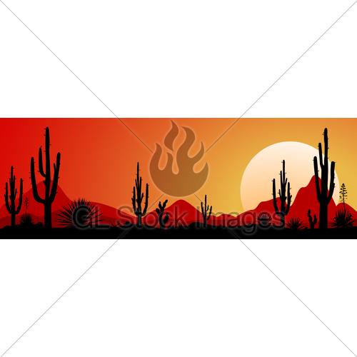 500x500 Mexico Desert Sunset 1 Gl Stock Images