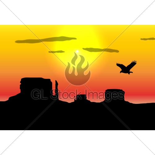 500x500 Western Desert Background Gl Stock Images
