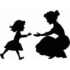 236x236 Innocent Loving Mom And Child Silhouette Free Download