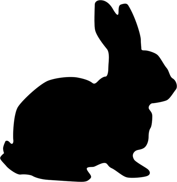 583x600 Rabbit Silhouette Free Vector In Open Office Drawing Svg ( Svg