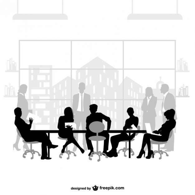 626x626 Business Meeting Silhouettes Vector Free Download
