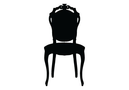 500x350 Chair Silhouette Vector For A Free Download. This Is An Ideal
