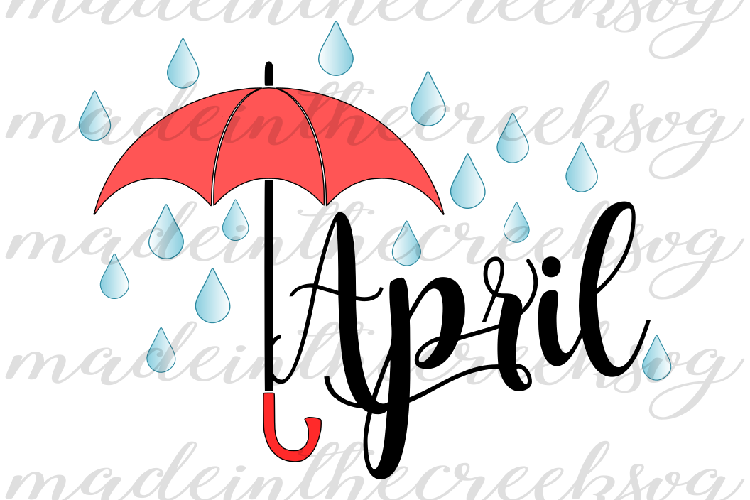 1056x704 April Showers, Raindrops, Umbrella, Mon Design Bundles