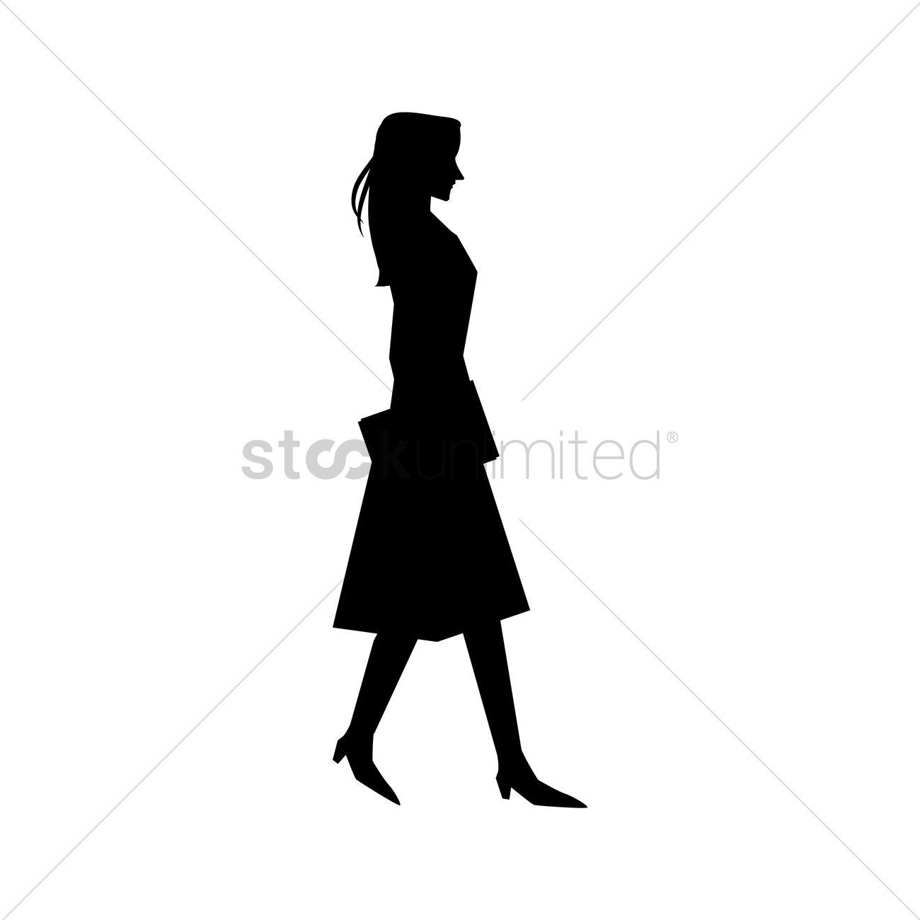 1300x1300 Woman Silhouette Design Vector Image