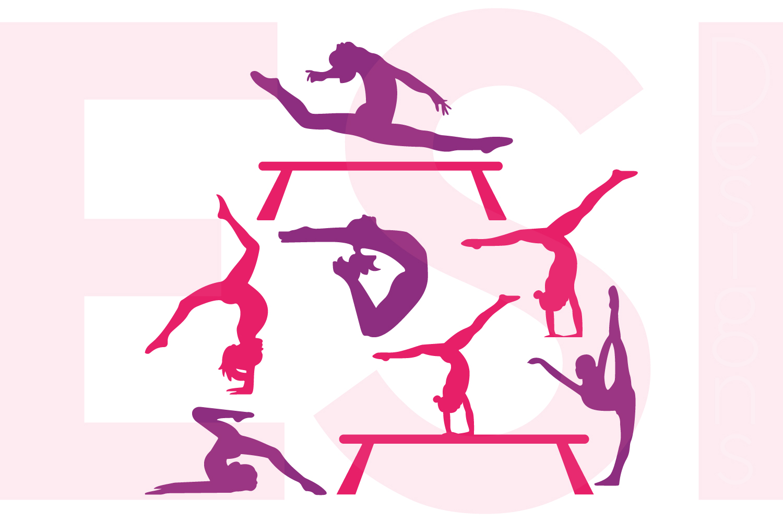 1500x1000 Gymnast Silhouette Designs Set By Esi D Design Bundles