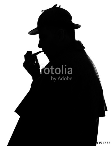 383x500 Sherlock Holmes Silhouette Famous Detective Stock Photo