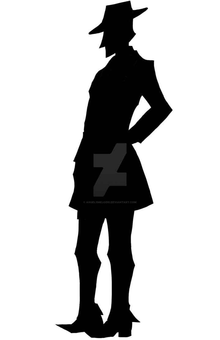 719x1110 Detective Hue Sideview Silhouette By Angelsmelodie