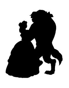 237x300 Vinyl Car Decal Run Disney Princess Beauty Beast Belle Dance
