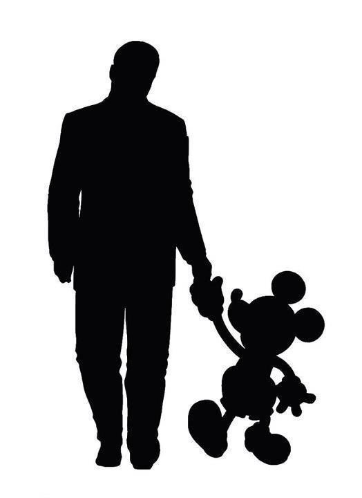 524x720 Walt Disney And Mickey Ink ) Mickey Silhouette