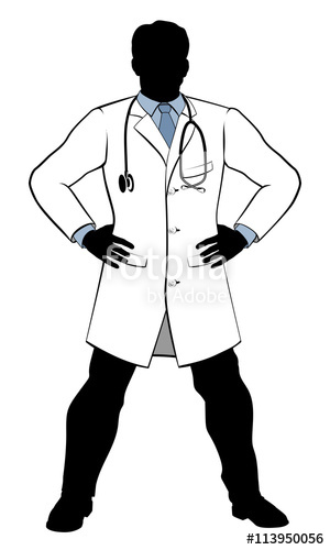 300x500 Hero Doctor Silhouette Stock Image And Royalty Free Vector Files