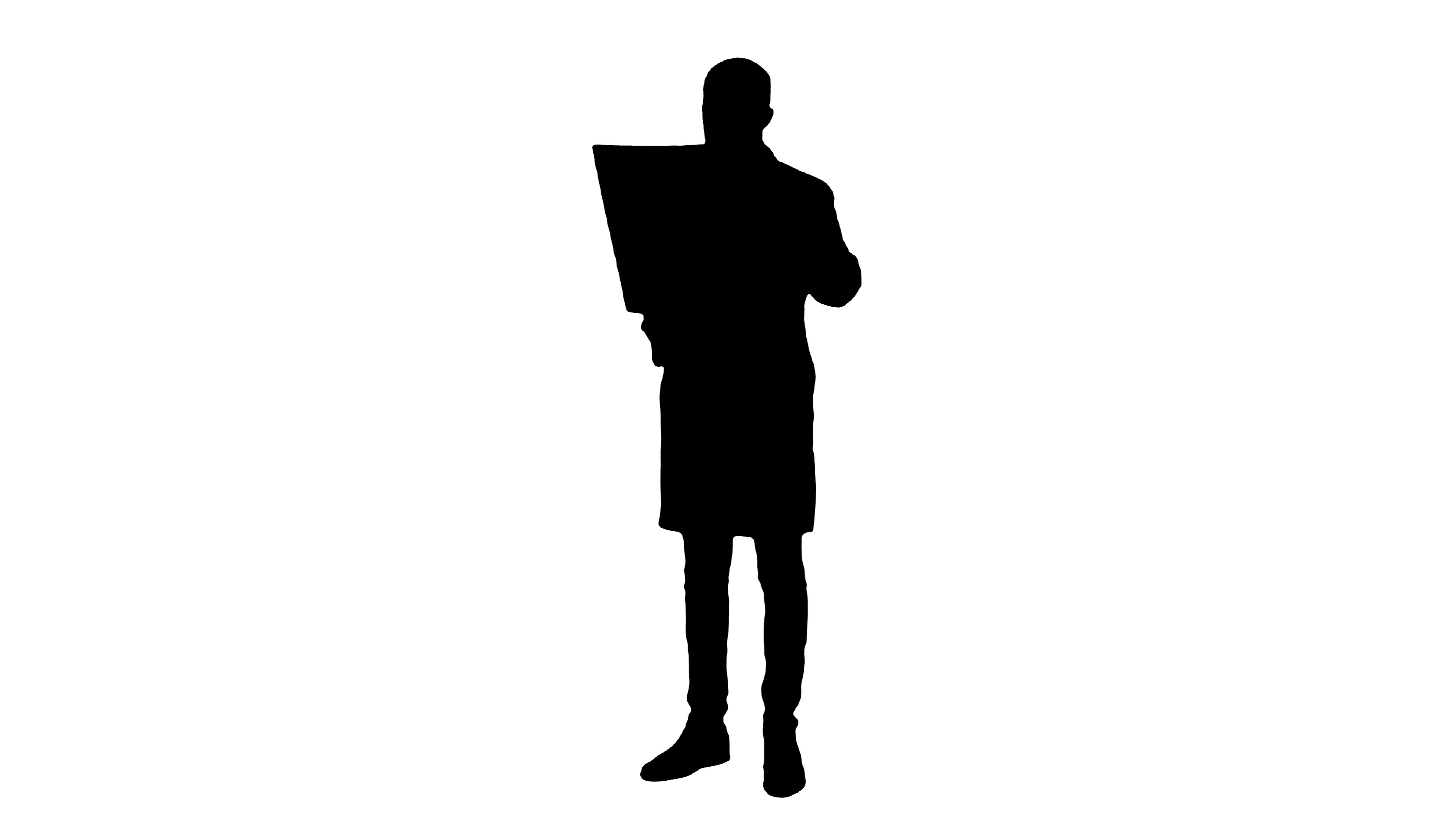 3840x2160 Silhouette Male Doctor Analysing Xray Results ~ Video